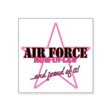 "Funny Air force my daughter Square Sticker 3"" x 3"""