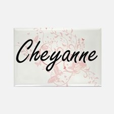 Cheyanne Artistic Name Design with Butterf Magnets