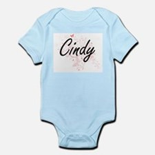 Cindy Artistic Name Design with Butterfl Body Suit