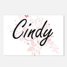 Cindy Artistic Name Desig Postcards (Package of 8)