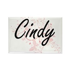 Cindy Artistic Name Design with Butterflie Magnets