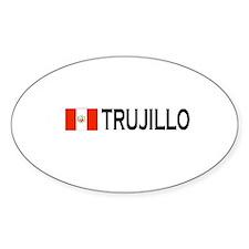 Trujillo, Peru Oval Stickers