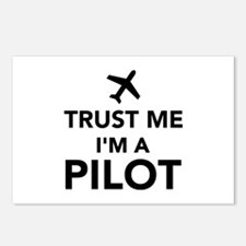 Trust me I'm a Pilot Postcards (Package of 8)