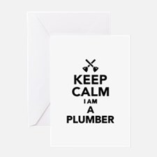 Keep calm I'm a Plumber Greeting Card