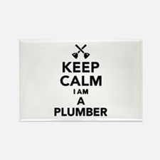 Keep calm I'm a Plumber Rectangle Magnet