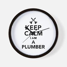 Keep calm I'm a Plumber Wall Clock