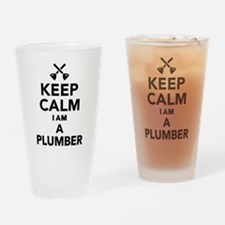 Keep calm I'm a Plumber Drinking Glass