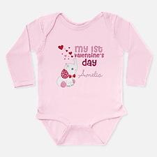 1st Valentine's Day El Long Sleeve Infant Bodysuit