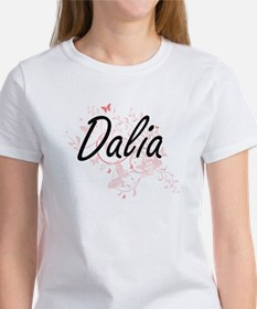 Dalia Artistic Name Design with Butterflie T-Shirt
