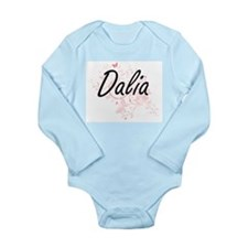 Dalia Artistic Name Design with Butterfl Body Suit