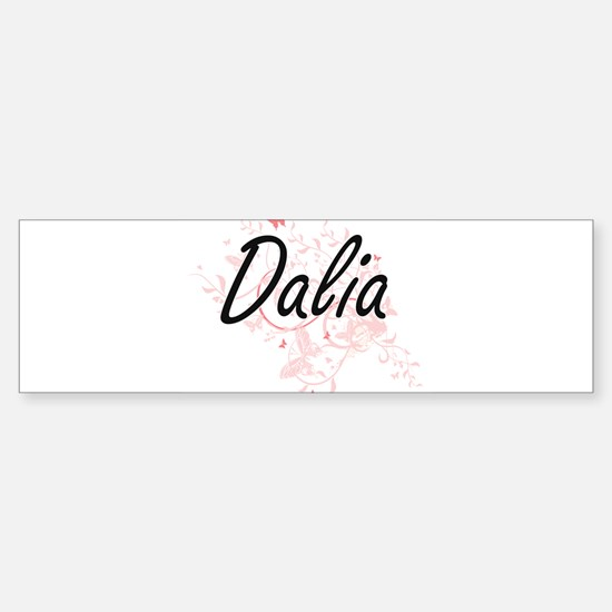 Dalia Artistic Name Design with But Bumper Car Car Sticker