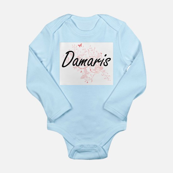 Damaris Artistic Name Design with Butter Body Suit