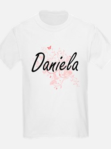 Daniela Artistic Name Design with Butterfl T-Shirt