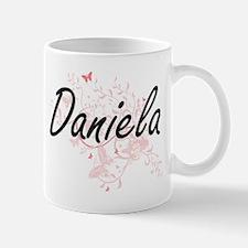 Daniela Artistic Name Design with Butterflies Mugs