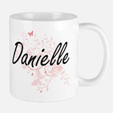 Danielle Artistic Name Design with Butterflie Mugs
