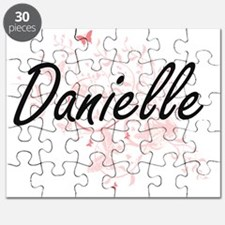 Danielle Artistic Name Design with Butterfl Puzzle