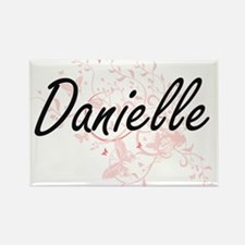 Danielle Artistic Name Design with Butterf Magnets