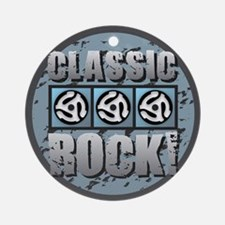 Classic Rock Blue Round Ornament