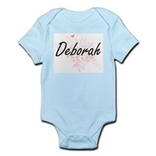 Deborah Artistic Name Design with Butter Body Suit