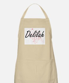 Delilah Artistic Name Design with Butterflie Apron