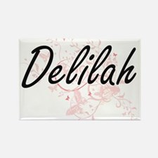 Delilah Artistic Name Design with Butterfl Magnets