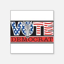 """Cute Vote democrat Square Sticker 3"""" x 3"""""""