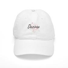 Desirae Artistic Name Design with Butterflies Baseball Cap