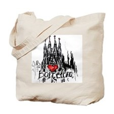 Cute City of barcelona Tote Bag