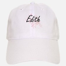 Edith Artistic Name Design with Butterflies Baseball Baseball Cap