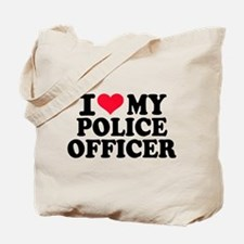 I love my police officer Tote Bag