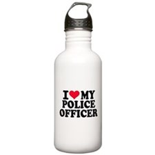I love my police offic Sports Water Bottle