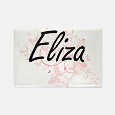Eliza Artistic Name Design with Butterflie Magnets