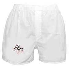 Eliza Artistic Name Design with Butte Boxer Shorts