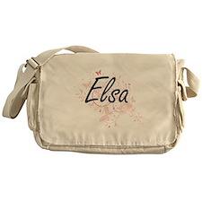 Elsa Artistic Name Design with Butte Messenger Bag