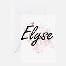 Elyse Artistic Name Design with But Greeting Cards