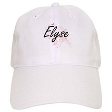 Elyse Artistic Name Design with Butterflies Baseball Cap
