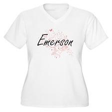 Emerson Artistic Name Design wit Plus Size T-Shirt