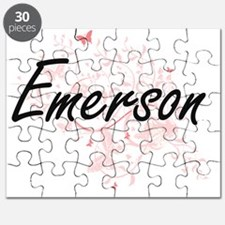 Emerson Artistic Name Design with Butterfli Puzzle