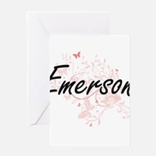 Emerson Artistic Name Design with B Greeting Cards