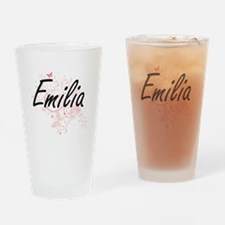 Emilia Artistic Name Design with Bu Drinking Glass