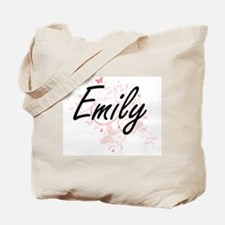 Emily Artistic Name Design with Butterfli Tote Bag