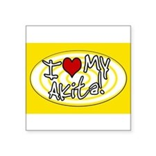 "Cute I love my future husband Square Sticker 3"" x 3"""