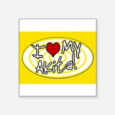 "Cute Akita lovers Square Sticker 3"" x 3"""