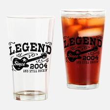 Legend Since 2004 Drinking Glass
