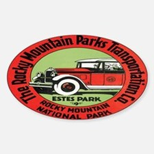 Rocky Mountain Nat. Park Oval Decal