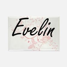 Evelin Artistic Name Design with Butterfli Magnets