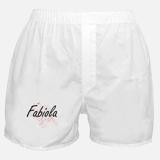 Fabiola Artistic Name Design with But Boxer Shorts