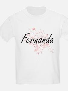 Fernanda Artistic Name Design with Butterf T-Shirt