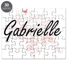 Gabrielle Artistic Name Design with Butterf Puzzle