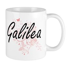 Galilea Artistic Name Design with Butterflies Mugs